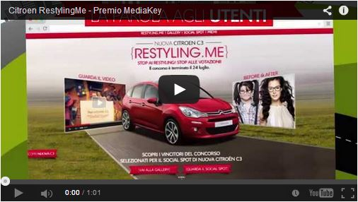 IL SOCIAL SPOT PER CITROËN C3 SI AGGIUDICA IL PREMIO BEST QUALITY CRAFT DI MEDIA KEY 2