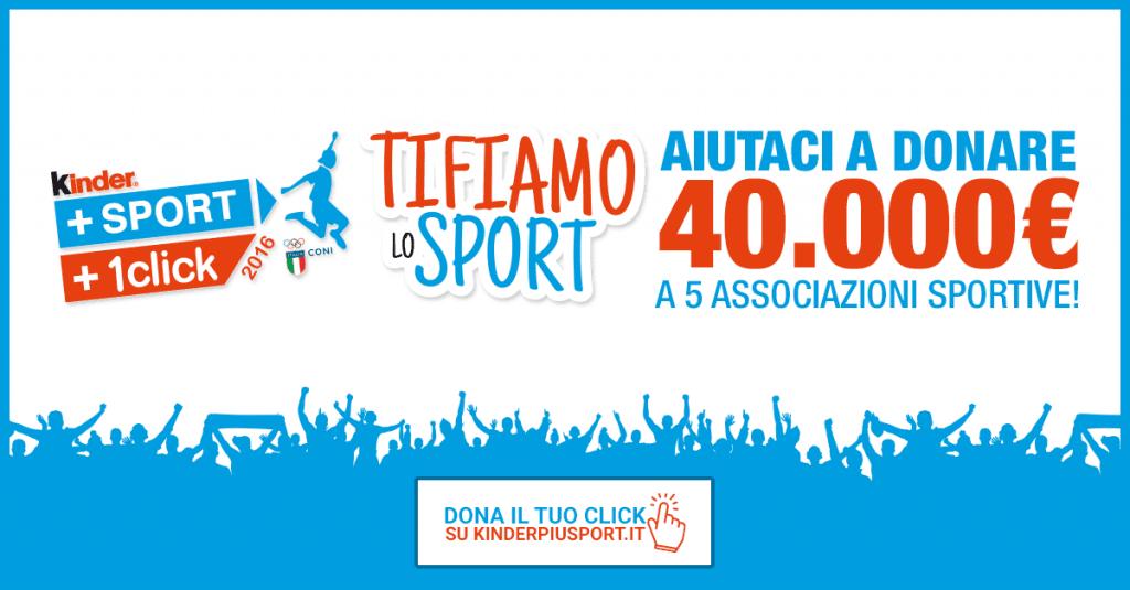 """""""KINDER + SPORT + 1CLICK"""": edizione speciale per tifare gli azzurri a Rio"""