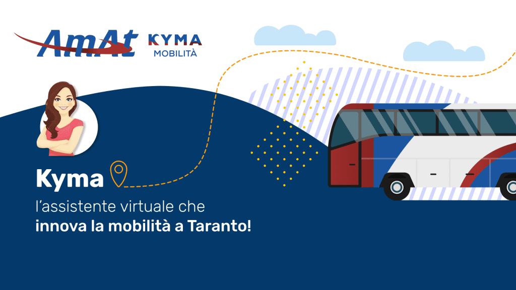 Kyma: l'assistente virtuale per gli utenti di Amat Kyma Mobilità, sviluppata da CrowdM e PA ABS.