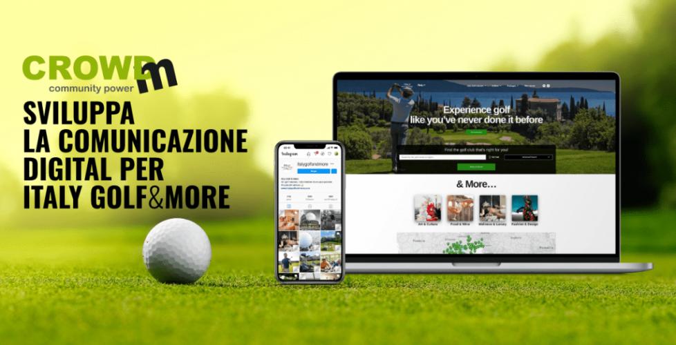 CrowdM sviluppa la comunicazione digital di Italy Golf & More per promuovere il golf italiano all'estero